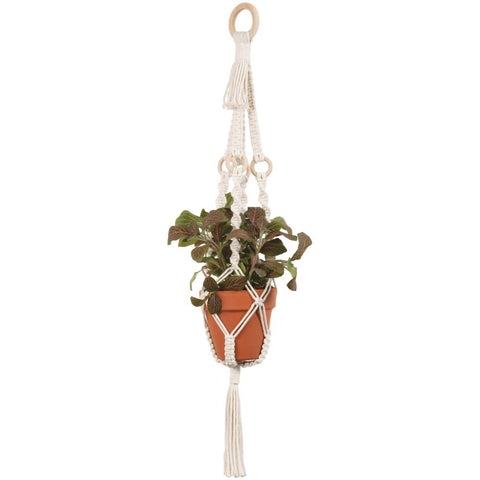 Solid Oak Make-ramè Macrame Plant Hanger DIY Kit - Rings