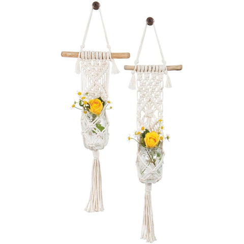 Solid Oak Make-ramè Macrame Plant Hanger DIY Kit - Two Minis