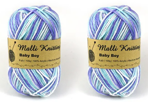 "Everyday Malli 100g ""Prints"" Acrylic Knitting Yarn - Choose Your Colour"