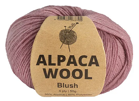 "Everyday Malli 50g ""Alpaca Wool"" Knitting Yarn - Choose Your Colour"