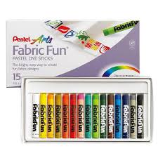 Pentel Fabric Fun Pastel Dye Stick Sets (Choose Your Size)