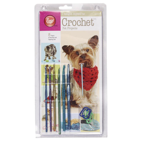"Boye ""I Taught Myself To Crochet"" Pet Projects - Crochet Hooks & Pattern Kit"