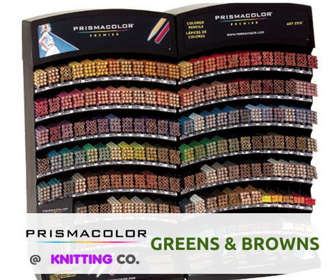 Prismacolor Premier Coloured Pencils - Greens & Browns