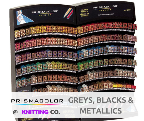 Prismacolor Premier Coloured Pencils - Greys, Blacks & Metallics