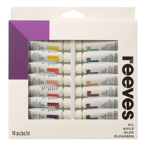Reeves Artists' Oil Colour Paint - 10ml Tube Sets
