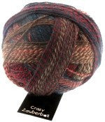 "Schoppel Wolle ""Crazy Zauberball"" 100g 4-Ply Sock Yarn 1507 Earth Colourway 
