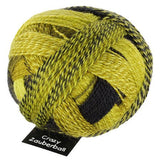 "Schoppel Wolle ""Crazy Zauberball"" 100g 4-Ply Sock Yarn 2081 Yellow Black Colourway 