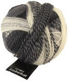 "Schoppel Wolle ""Crazy Zauberball"" 100g 4-Ply Sock Yarn 2100 Charcoal Colourway 