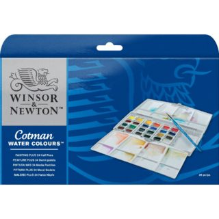 Winsor & Newton Cotman Watercolour Paint - Painting Plus Set