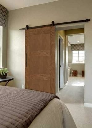 3 Panel Barn Door In Walnut