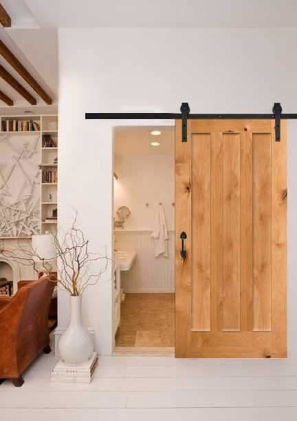 3 Vertical Slot Barn Door In Knotty Alder