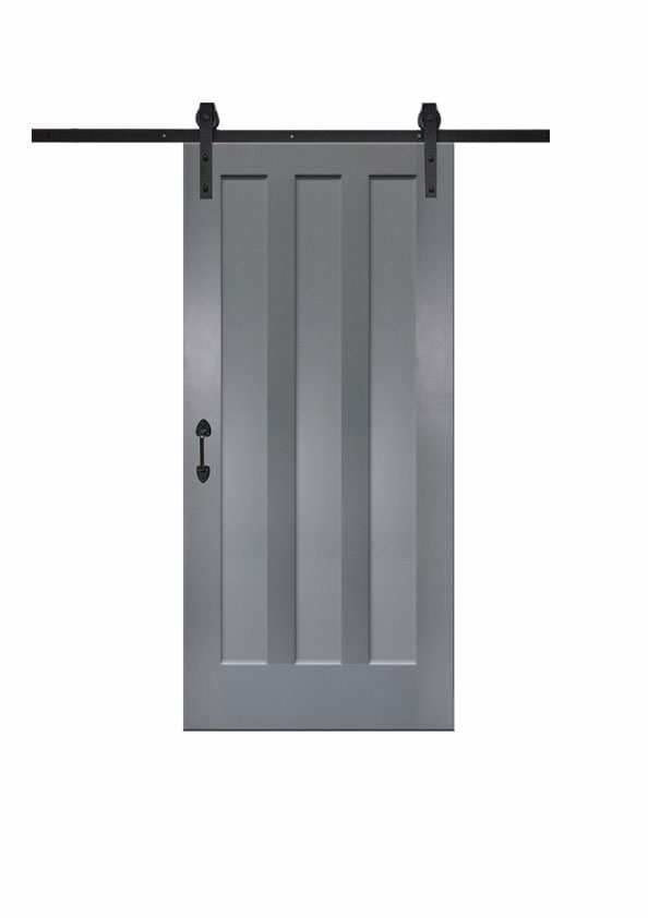 3 Vertical Slot Barn Door in Paint Grade
