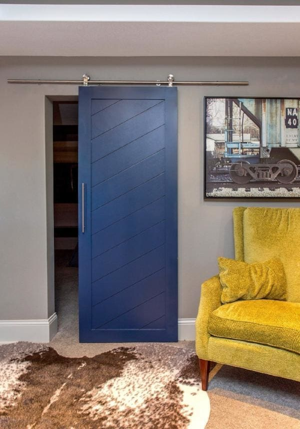 Diagonal Slatted Barn Door In Paint Grade Doors