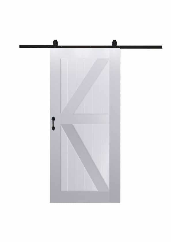 K Barn Door In Paint Grade