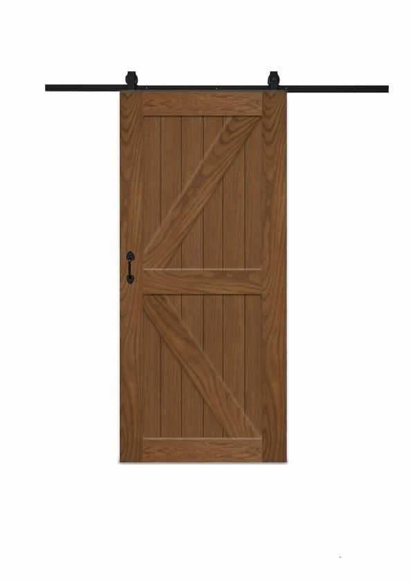 K Barn Door In Walnut Wood