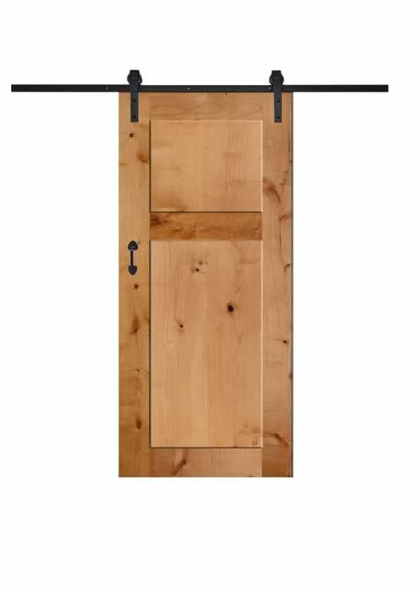 Lush 2 Panel Barn Door In Knotty Alder