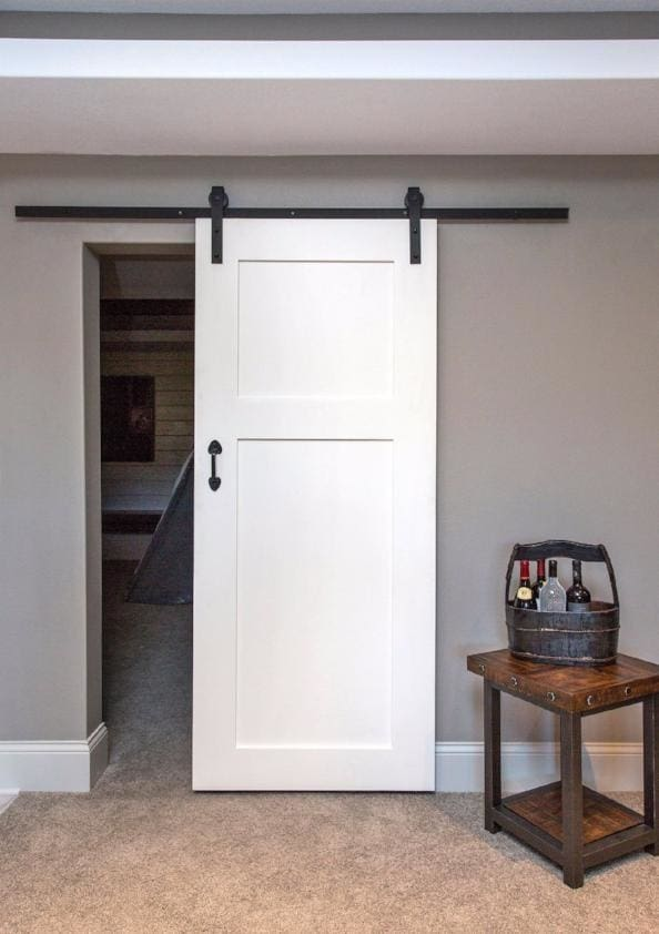 Lush 2 Panel Barn Door In Paint Grade