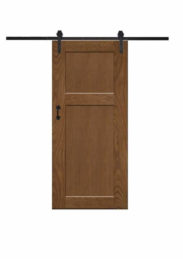 Lush 2 Panel Barn Door In Walnut Wood