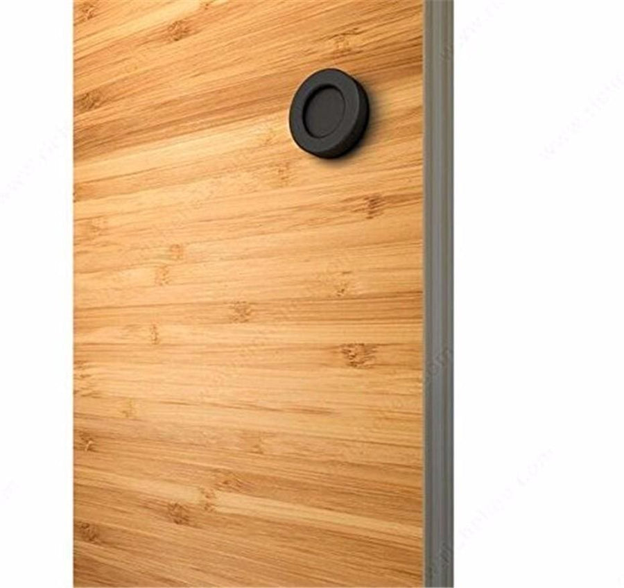 Minimal Black Steel Doorknob For Sliding Barn Doors