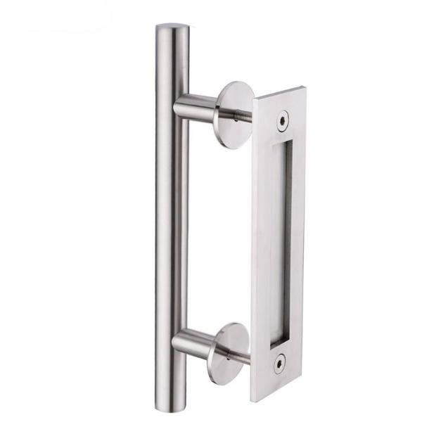 "12"" Round Stainless Steel Sliding Barn Door Pull Handle"