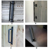Hand Made Black Steel sliding Barn Door Pull Handle