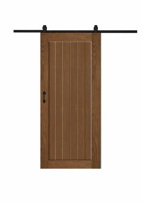 The Natural Barn Door In Walnut Wood