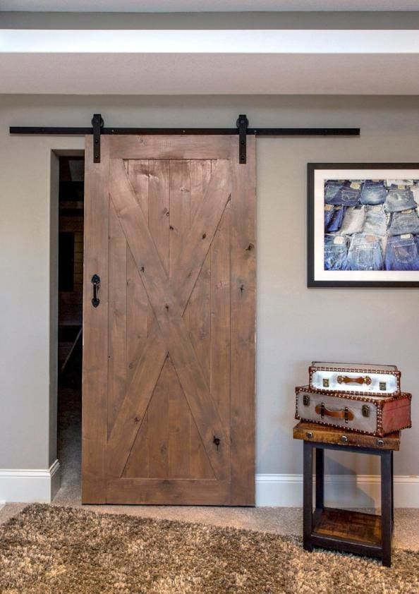 X Barn Door In Knotty Alder