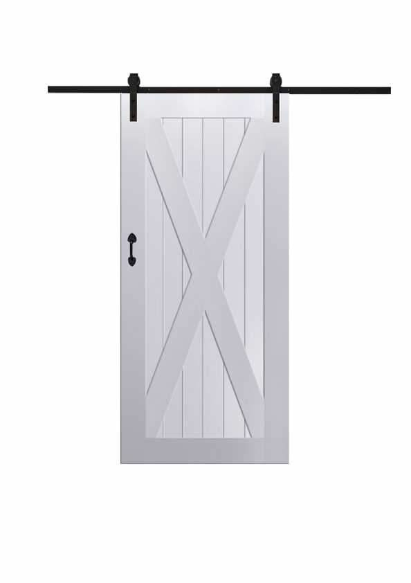 X Barn Door In Paint Grade