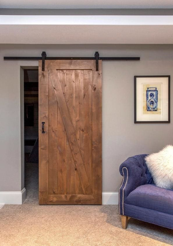 Z Barn Door In Knotty Alder