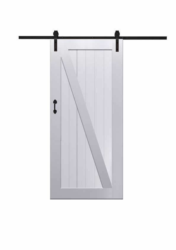 Z Barn Door In Paint Grade