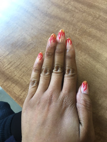 red flame nails