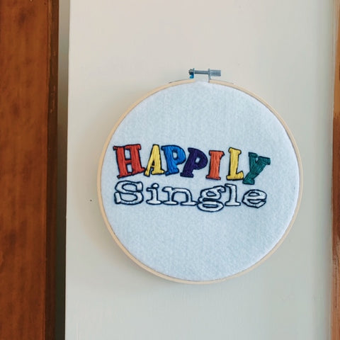 Happily Single Embroidery