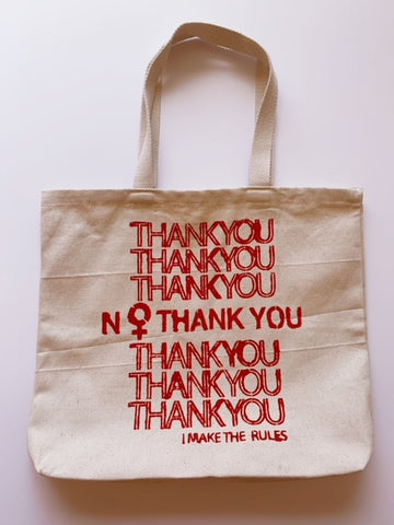NO Thank You Canvas Tote Bag