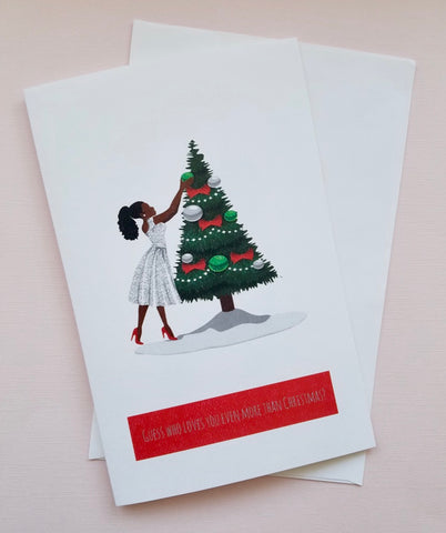 Guess Who Loves You Christmas Card (Various Colors)