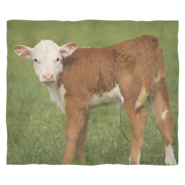 Hereford Calf Fleece Blanket