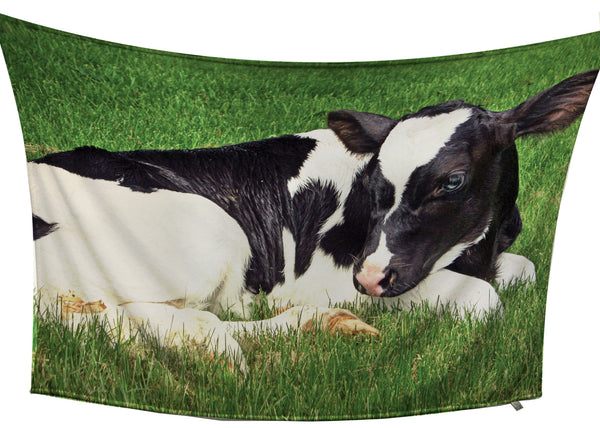 Holstein Calf Fleece Blanket