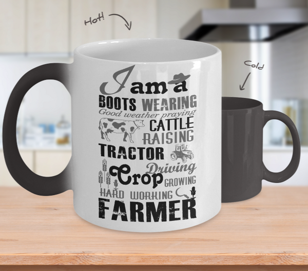 Hard Working Farmer Color Changing Mug