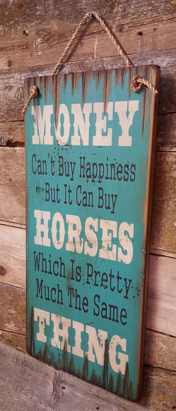 Horse Happiness Wooden Sign
