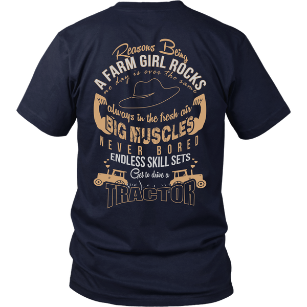 Being a Farm Girl Rocks [Brown Back Side]
