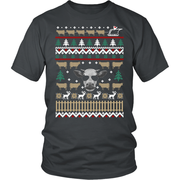 Ugly Christmas Sweater-Cows