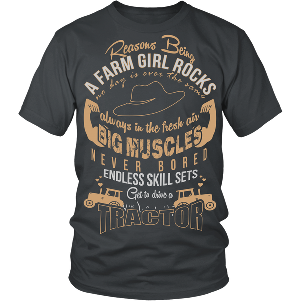 Being a Farm Girl Rocks [Brown]