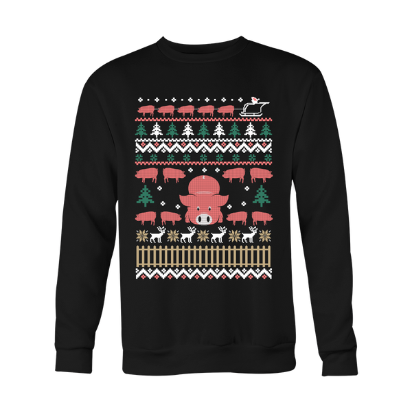 Ugly Christmas Sweater-Pigs