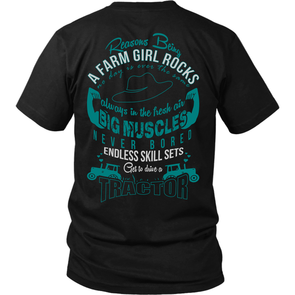 Farm Girl Rocks [Cyan Back Side]