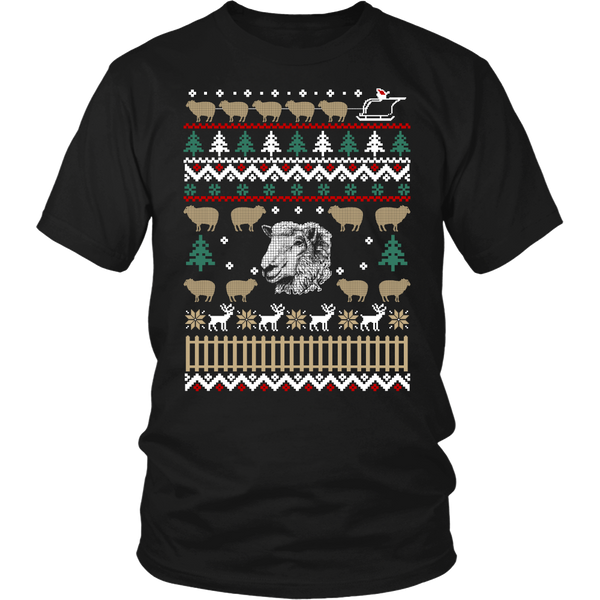 Ugly Christmas Sweater-Sheep