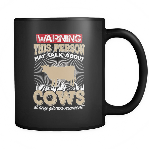 Warning Cows Mug