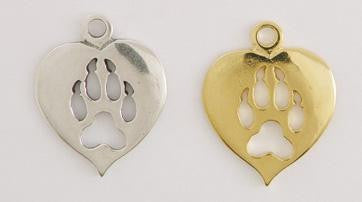 Dog Paw Print Heart