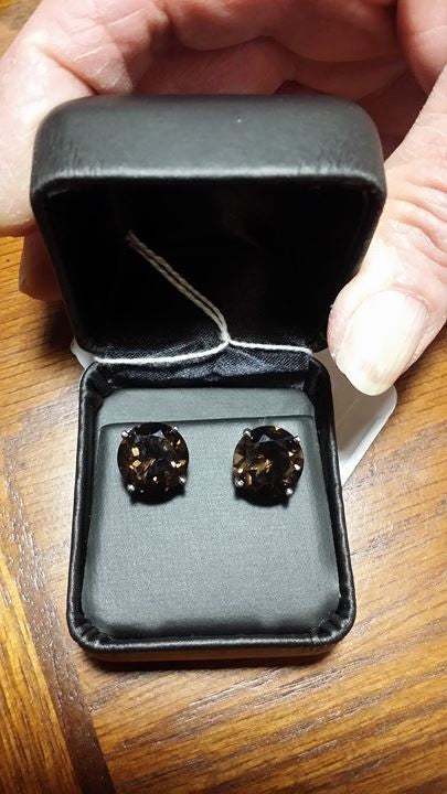 Vintage Smoky Topaz Earrings (New)