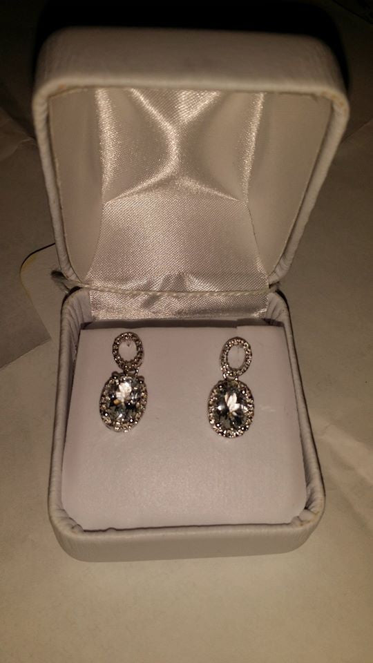 Vintage Aquamarine Earrings (NEW)