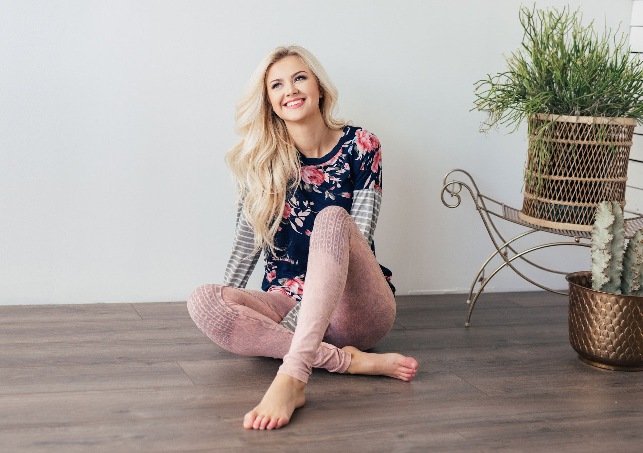 Dusty Pink Moto Leggings