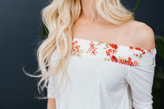 Spring Fever Off The Shoulder Blouse in White